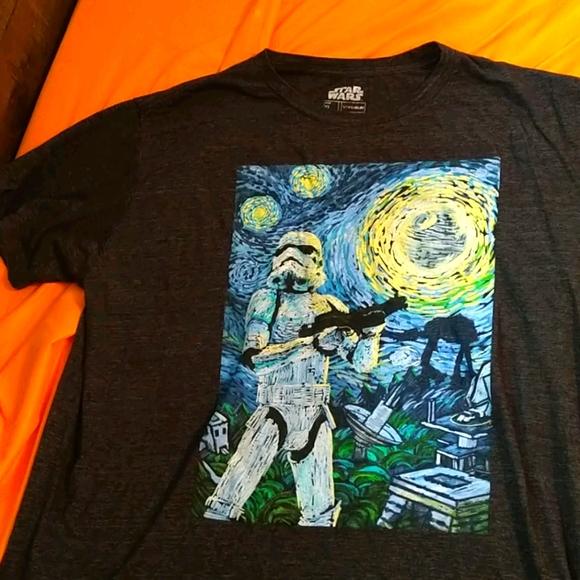 XL Star Wars StormTrooper Starry Night T Shirt